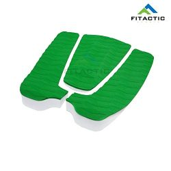 FITACTIC Universal 3-Piece Diamond Grooved Stomp Traction Pad Grip Mat with Tail Kick for Surfbo ...