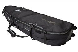 Creatures of Leisure Universal Quad Wheely Surfboard Bag Black Charcoal 6ft 7in