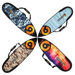 "Quiver9 CLEARANCE SALE! Surfboard travel cover for shortboards and fun boards – Navy Camo 6'4"" & ..."