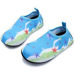 HOBIBEAR Kids Water Shoes Quick Dry Barefoot Sock Aqua Shoes for Beach Swim Pool Dance