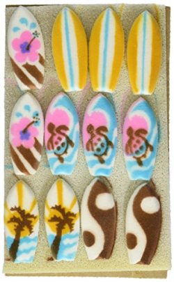 Surf Boards Sugar Decorations Cookie Cupcake Cake 12 Count