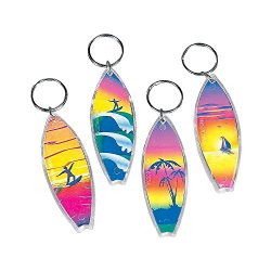 Fun Express – Assorted Surf Board Key Chains (1-Pack of 12)