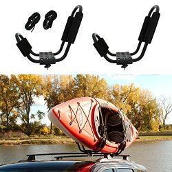 ABN Kayak Roof Rack J Rack Mounted Roof Top Carrier – Kayak, Canoe, SUP, Ski, Surf J Bar Vehicle ...