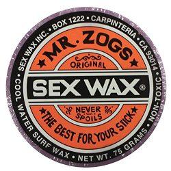 Mr. Zogs Original Sexwax – Cool Water Temperature Grape Scented (Light Purple Color)