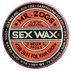 Mr. Zogs Original Sexwax – Cool Water Temperature Strawberry Scented (Light Red Color)