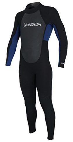 Lemorecn Wetsuits Youth 3/2 mm Full Diving Suit(4031blackblue8)