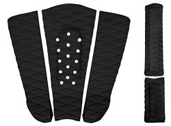 Rogue Iron Premium Skimboard Traction Pad w/Arch Bar (Black)