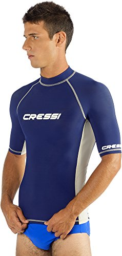 Men's Rash Guard for Swimming, Surfing, Diving with Sun Protection | SHORT SLEEVE RASH GUA ...