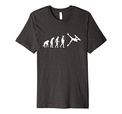 Mens Funny Bodyboarding Evolution Shirt for Bodyboarders Medium Dark Heather