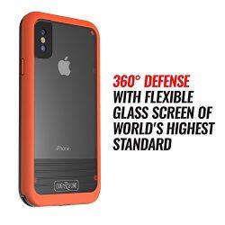 Waterproof Case for iPhone X – Dog & Bone Wetsuit Impact Rugged iPhone X Case (Orange/ ...