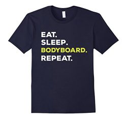 Mens Eat Sleep Bodyboard Repeat Funny T-Shirt Large Navy