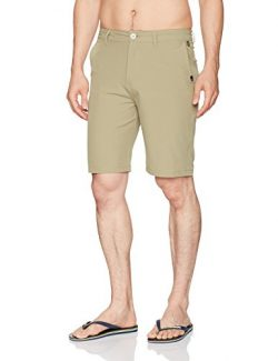 Quiksilver Men's Union Amphibian Hybrid 21 Short, Elmwood, 38
