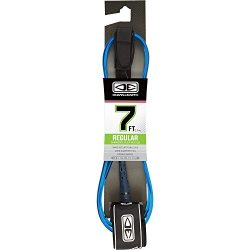 Ocean and Earth Regular Moulded Blue Surfboard Leash – 7′