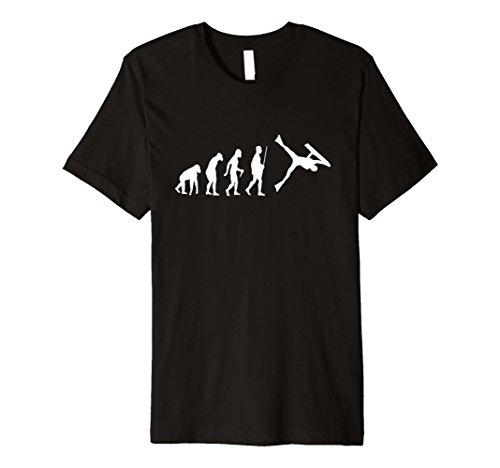 Mens Funny Bodyboarding Evolution Shirt for Bodyboarders Large Black