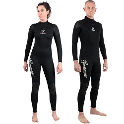 Seavenger 3mm Neoprene Wetsuit with Stretch Panels for Snorkeling, Scuba Diving, Surfing (Scuba  ...