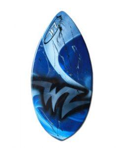 Wave Zone Edge – Fiberglass Skimboard for Intermediate Riders – Blue