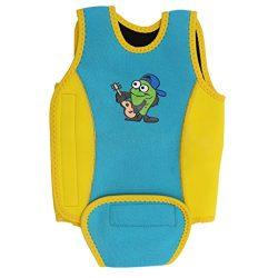 Baby Swimwear Kids Swimming Vest Wrap Wetsuit Toddler Learn-to-Swim One-Piece