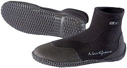 NeoSport Wetsuits Premium Neoprene 3mm Low Top Pull On Boot, Black, 9 – Water Shoes, Surfi ...