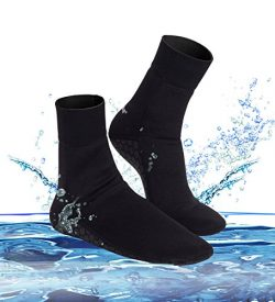 Junlan Water Shoes Beach Socks Neoprene Diving Boots Scuba Snorkel Booties Surfing wetsuit Sport ...