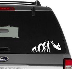 Bodyboard Surfing Surf Evolution Vinyl Decal Sticker For Wall Decor, Windows, Laptop, Car, Truck ...