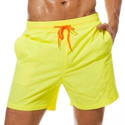 SilkWorld Men's Swimming Surf Board Shorts Mesh Lining(US XL Size-Asian Tag 3XL, Waist 39& ...