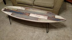 Faux Pallet Wood Surfboard Coffee Table