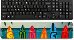Liili Keyboard Wrist Rest Pad Long Extended Arm Supported Mousepad Summer vacation surfboard pos ...