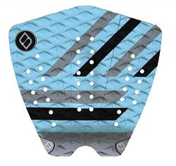 Shapers Tailpads Mod Series 3 Piece Traction Pad Black Grey (Sky Blue 3)