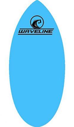 Waveline Skimboard Professional Series Original Wood Skim Board – Lightweight Durable (Blu ...