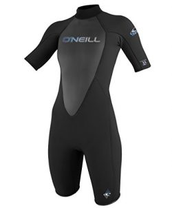 O'Neill Wetsuits Wetsuits Womens 2 mm Reactor Short Sleeve Spring Suit, Black, 6