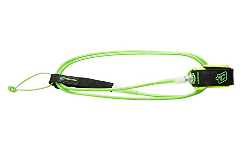Creatures of Leisure Surfboard Shortboard Leash Lite Lime Clear 5ft