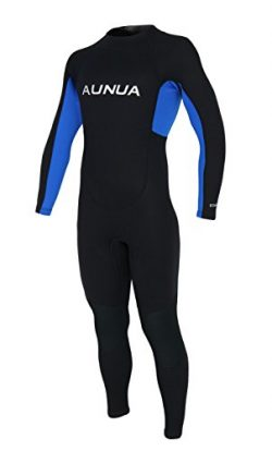Aunua Youth 3/2mm Neoprene Wetsuits for Kids Full Wetsuit Swimming Suit Keep Warm(7031 BlackBlue 10)