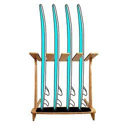 Grassracks Bamboo Freestanding Vertical Surf Rack for 4 Boards – Surfboards – Snowbo ...