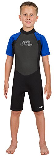 Hyperflex Wetsuits Children's Access Spring Suit, Black/Blue, 6 – Surfing, Windsurfi ...