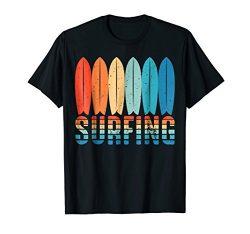 Surf Surfing Wave Vintage Retro Surfboard T Shirt