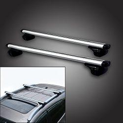 53″ Locking Roof Rack Universal Cross bars, Anti-thief Lock Car luggage Top Adjustable Cla ...