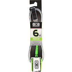 Ocean and Earth Regular Moulded White Surfboard Leash – 6′