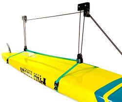 StoreYourBoard SUP and Surfboard Ceiling Storage Hoist | Hi-Lift Home & Garage Hanging Pulle ...
