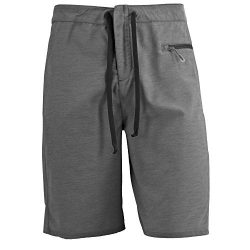 White Sierra Big Surf Board Short, Black, 38