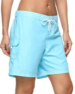 ALove Sport Swim Shorts for Women Surf Board Shorts Bikini Bottom Swimsuits Blue XXL