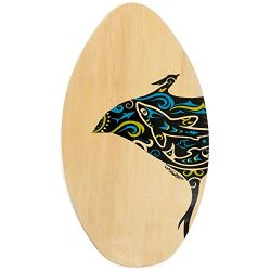 Lucky Bums RA Wood Skim Board, 35