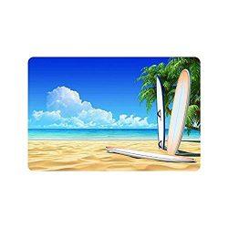 best bags Surfboard On The Beach Sea Ocean Indoor/Outdoor Floor Mat Doormat Home Floor Mats Rugs ...