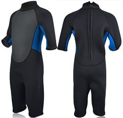 Realon Kids Wetsuit for Swim Surf Snorkel Dive 3mm Premium Neoprene/Lycra Shorty Full Suit for B ...