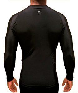 Optimal Human Men's Athletic Compression Shirt Best for BJJ No-Gi Rash Guard, Baselayer |  ...
