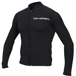 Lemorecn Men's 2mm Wetsuits Jacket Long Sleeve Neoprene Wetsuits Top(2021blackL)