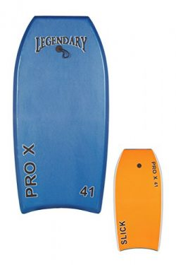 GYN Trade Heat Sealed Legendary Pro X Bodyboard Hard Slick Printed (Dark Blue/Orange, 45″)