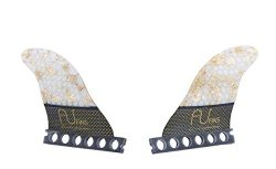 Set of 2 Future fins AU Fins 24K TWIN FULL BASE size G5 Medium. Made of carbon fiberglass and ho ...