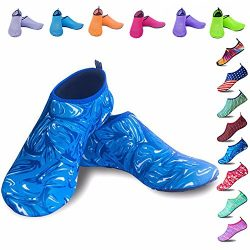 Peicees Mens and Womens Water Shoes Quick Dry Dive Beach Aqua Water Socks Upgraded Skin Shoes Bo ...