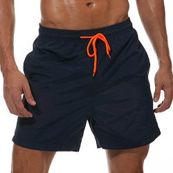 SilkWorld Men's Swimming Surf Board Shorts Mesh Lining(US L Size-Asian Tag 2XL, Waist 36&# ...