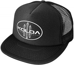 Joe's USA Koloa Surf Classic Surfboards High Profile Poly-Foam Trucker Hat-BlackBlack/w